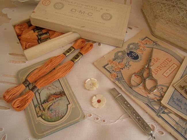 Echeveau Coton mouliné spécial DMC n°25, couleur orange'Terracota' N°922