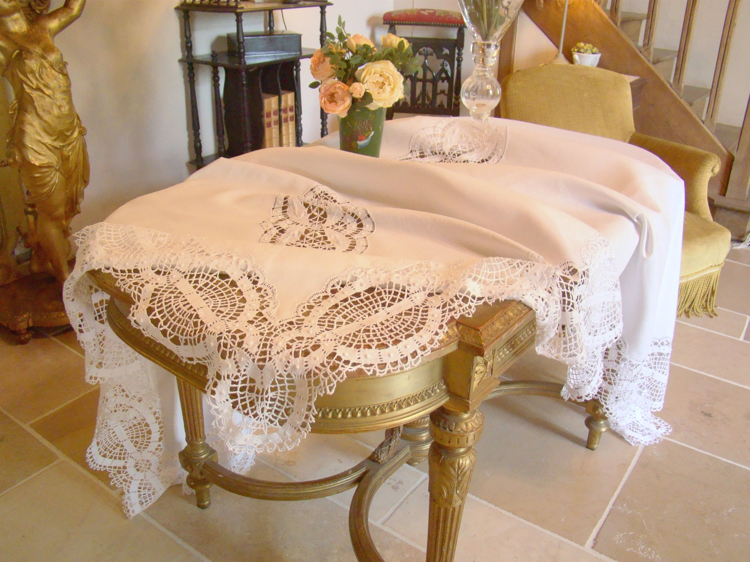 vintage linen table linen. Black Bedroom Furniture Sets. Home Design Ideas