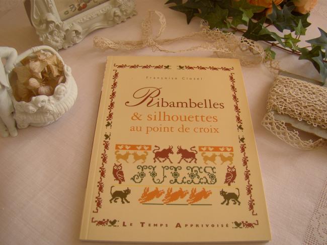 Livre 'Ribambelle et Silhouettes' au point de croix, Françoise Clozel, par LTA