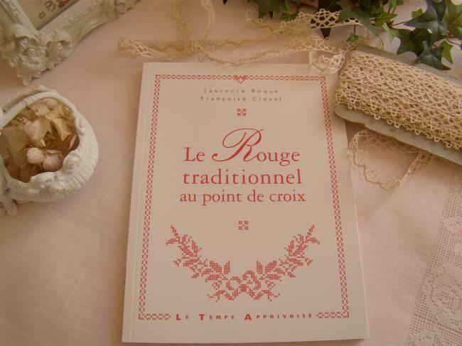 Livre 'Le rouge traditionnel' au point de croix, F.Clozel & L.Roque, par LTA