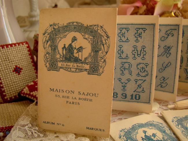 Petit Album ancien Maison SAJOU n°6 Alphabet au point de croix