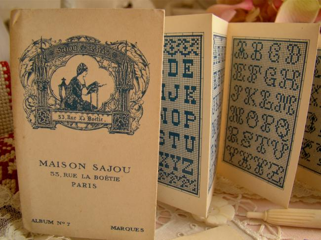 Petit Album ancien Maison SAJOU n°7 Alphabet au point de croix