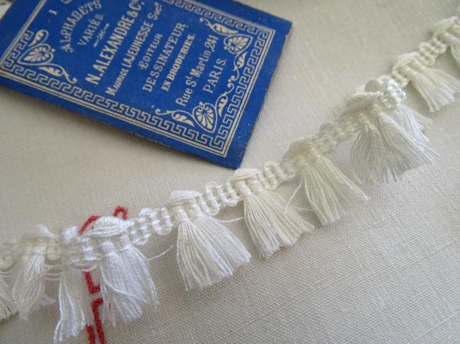 Ruban galon passementerie à giselle en coton blanc