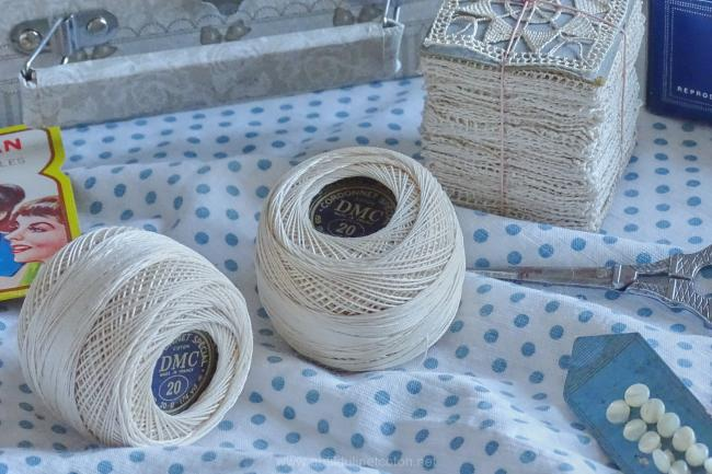 Pelote de cordonnet spécial crochet n°20, écru naturel, DMC