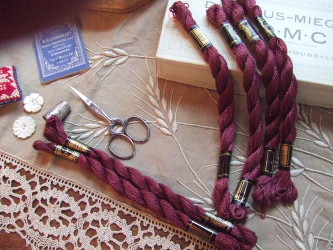 Echeveau coton perlé DMC, n°5 lilas fané (nuance n°315)