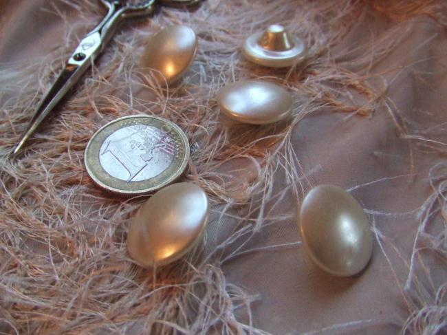 Boutons en forme de champignon bombé en verre nacré (18mm)