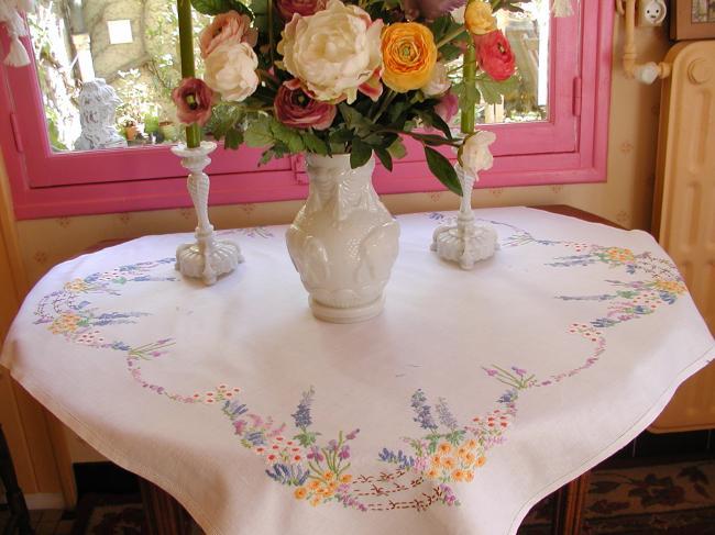 Linge ancien et mercerie ancienne les nappes for Jardin romantique anglais