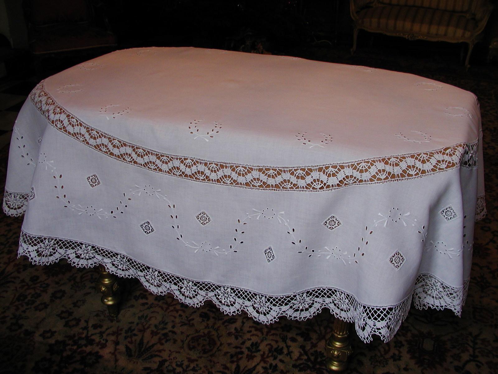 linge ancien et mercerie ancienne les nappes. Black Bedroom Furniture Sets. Home Design Ideas